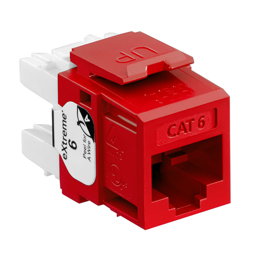 Leviton 61110-RC6 6+ QuickPort Category 6 Jack (Crimson)