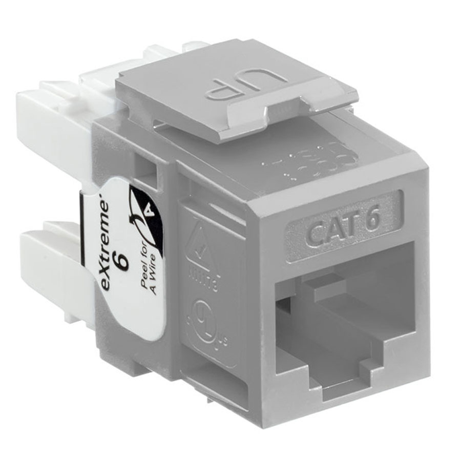 Leviton 61110-RG6 6+ QuickPort Category 6 Jack (Gray)