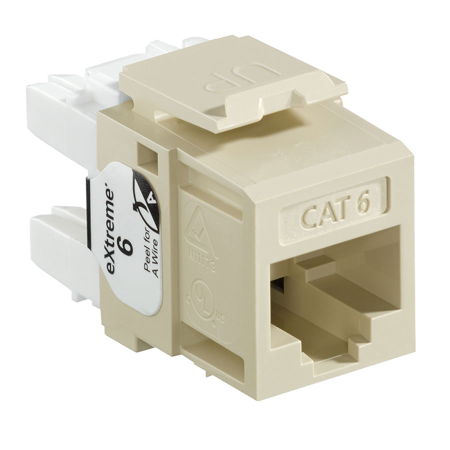 Leviton 61110-RI6 6+ QuickPort Category 6 Jack (Ivory)
