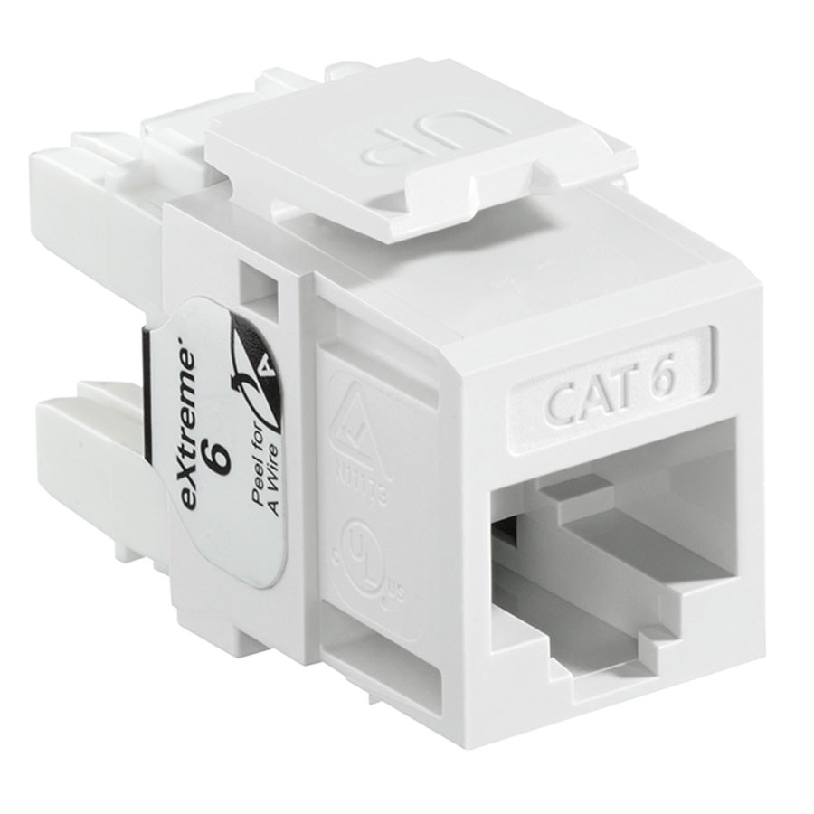 Leviton 61110-R*6 6+ QuickPort Category 6 Jack