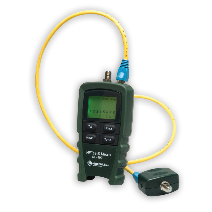 Greenlee NC-100 NETcat Micro Digital Voice, Data, & Video Tester