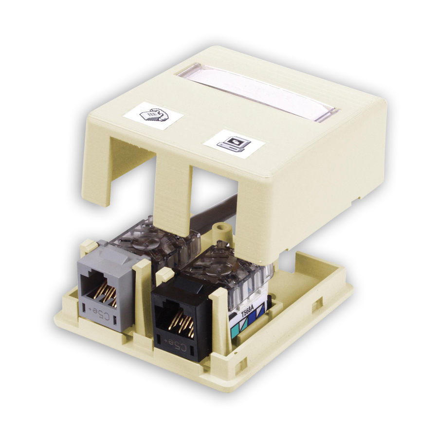 """""""Hubbell ISB2XX ISM Surface Mount Box, 2-Port"""""""